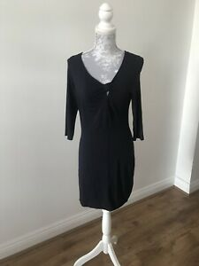 Pepperberry-Really-Curvy-Navy-Sleeved-Dress-Work-Formal-Size-8