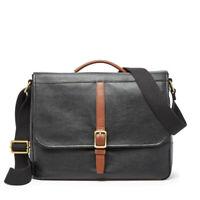 Fossil Evan Commuter Men's Leather Bag (Black)
