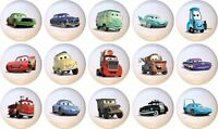 Set Of 15 Disney Cars Ceramic Drawer Pulls Dresser Drawer Cabinet Knobs