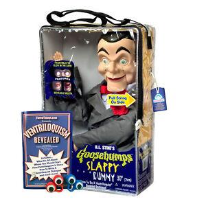Bonus-Bundle-Slappy-Goosebumps-Ventriloquist-Dummy-Doll-New-Glowing-Eyes