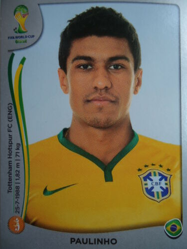 Panini 41 Paulinho Brasil FIFA WM 2014 Brasilien