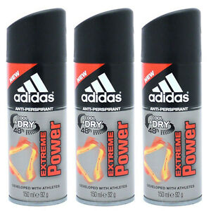 e7459b635145a Details about Lot of Three Adidas EXTREME POWER 48H DEODORANT BODY SPRAY  5.0 OZ 150 ML FOR MEN