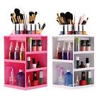 New Rotating Make up Organizer Cosmetic Display Brush Lipstick Storage Stand#JN