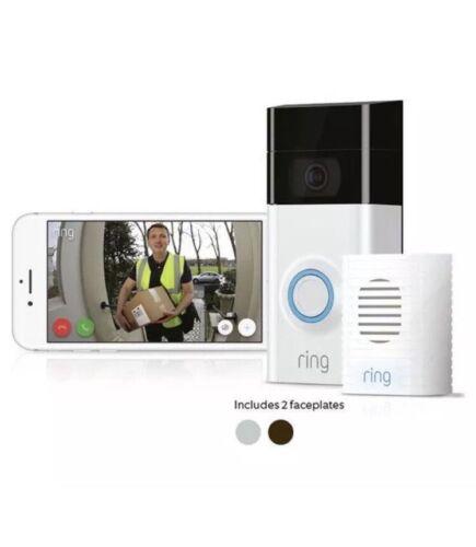 Bague vidéo sonnette Mouvement 2 détecté vidéo 1080HD 2-Way Talk caméra avec carillon