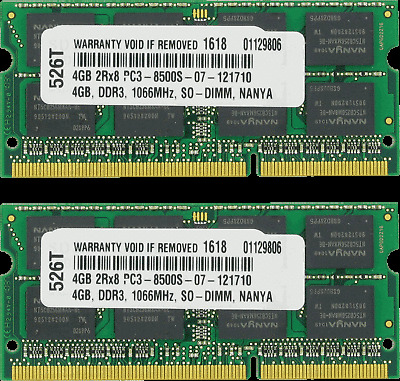 RAM Memory Toshiba Satellite A505-S6030 A505-S6031 2X4GB 8GB A505-S6033 A35