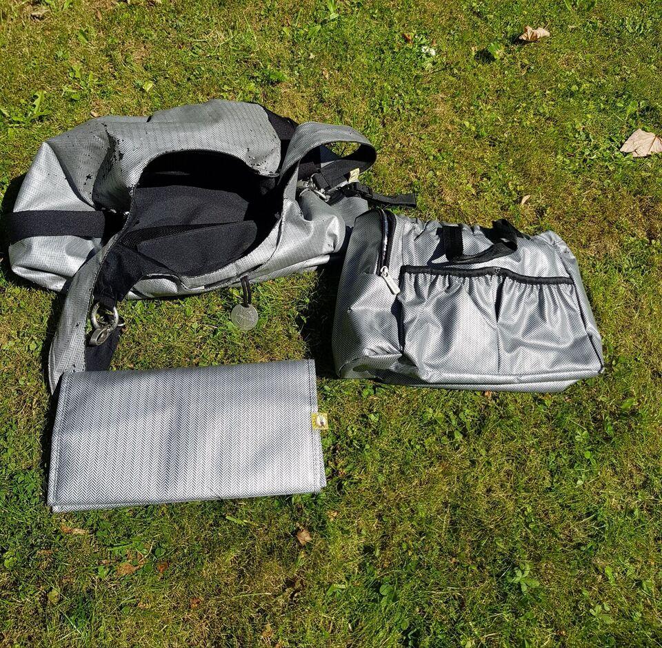 Pusletaske, Pusletaske med håndtaske og liggeunderlag,