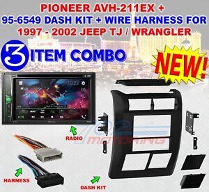 97 2002 jeep wrangler tj pioneer avh 211ex 2 din. Black Bedroom Furniture Sets. Home Design Ideas