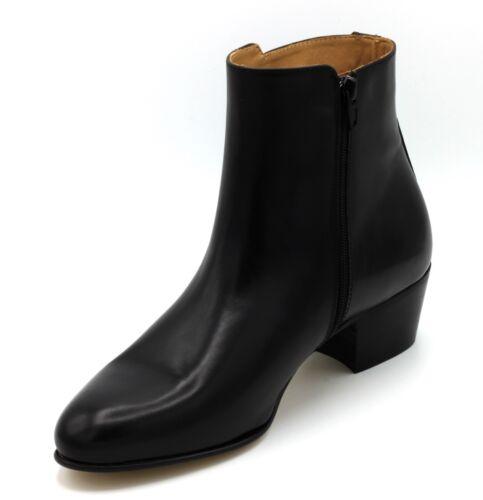 1 sur 11Seulement 1 disponible Boots Stivaletti Uomo Tronchetti Eleganti Scarpe  Pelle Nero 40 38b12db62e1