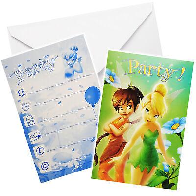 """Set Cartes d/'invitation Fille//Ki enveloppe /""""DISNEY FAIRIES-TINKERBELL/"""""""