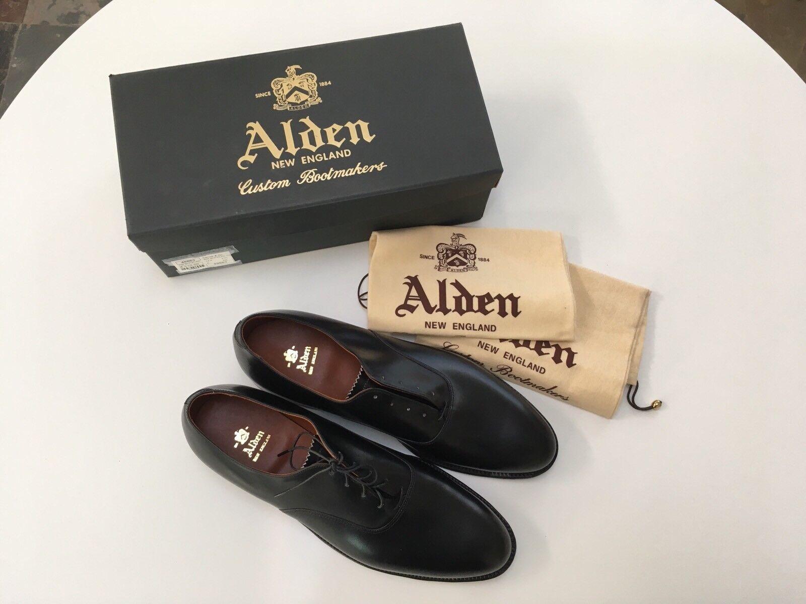 alta qualità Alden Plain Toe Bal , STYLE  932 932 932 Made in USA nero 12 1 2 D  perfezionare