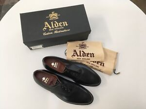 Alden Plain Toe Bal Style 932 Made In Usa Black 12 1 2