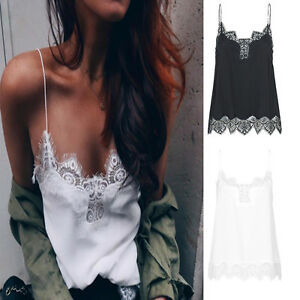 Women-Sexy-Lace-Silk-Satin-Adjustable-Length-Strap-Vest-Camisole-Camis-Tank-Tops