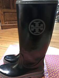 d07de102e18 Image is loading Tory-Burch-Rain-Boots-size-10