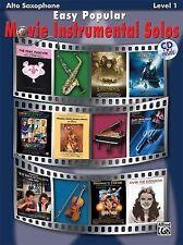 Easy Popular Movie Instrumental Solos: Alto Sax, Book & CD (Easy Instrumental So