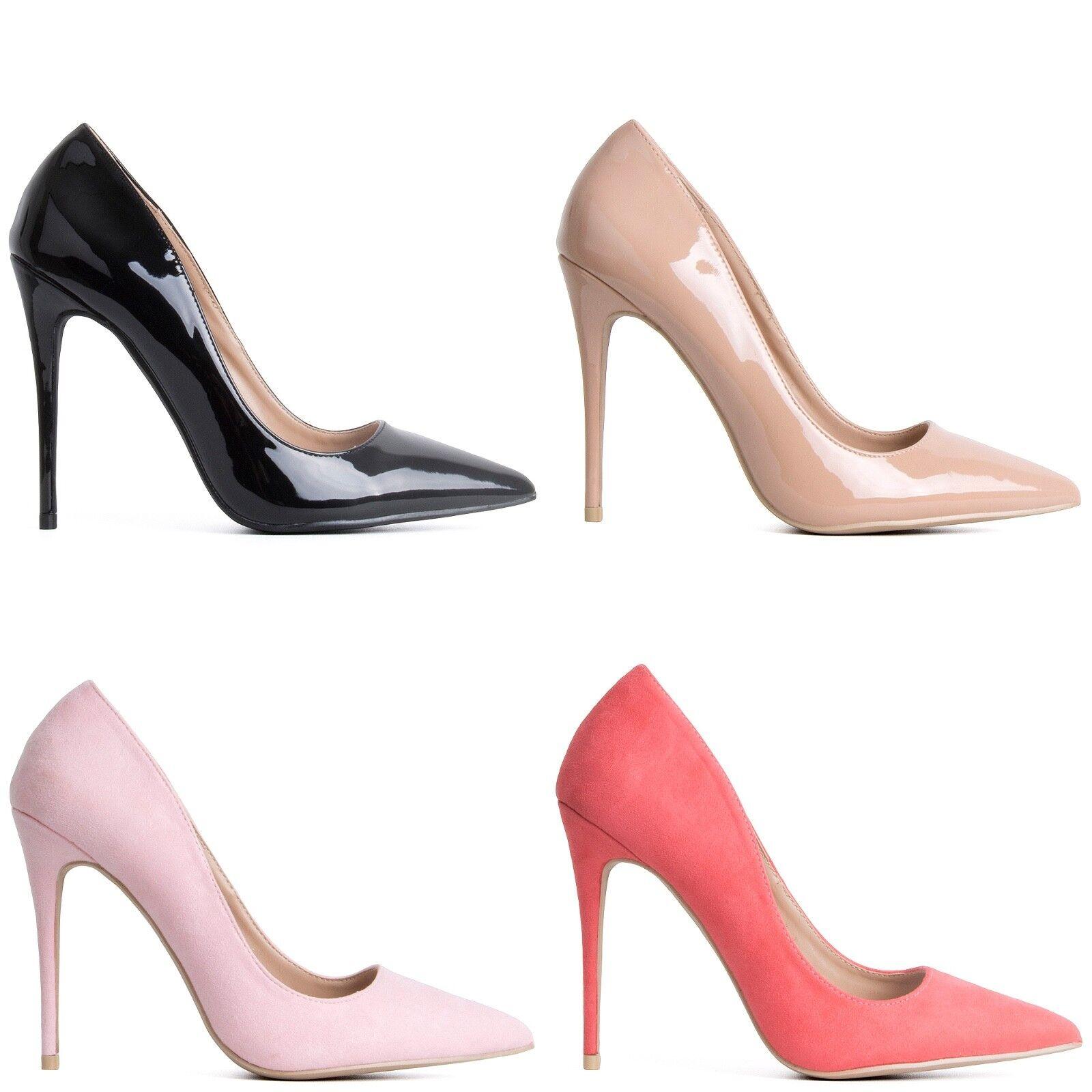 37becd30522 Womens Ladies Court Pointed Toe Heel High Heels Stiletto Easy Wear ...