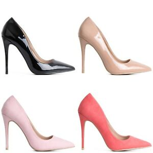 Court Stiletto Womens Heel Pointed Wear Toe High Easy Heels Ladies AxB5qH