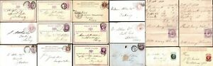 GB QV Postales Postal estacionario MATASELLOS ingresos Wrappers de Historia Postal