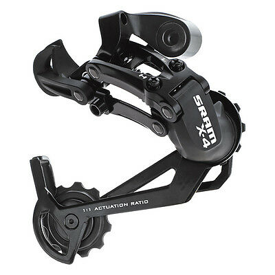 SRAM X4 Rear Derailleur 7/8-Speed Long Cage Black