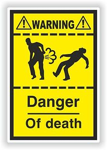 Farting-Funny-Sticker-Death-Danger-Heavy-Fart-Gases-Truck-Bumper-WC-Toilet-Car