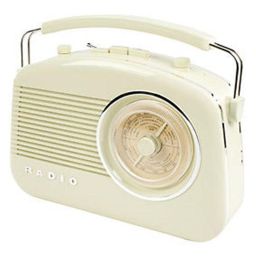 STYLISCHES RETRO RADIO NOSTALGIE - AM / FM - Farbe: CREME -  SUPER DESIGN ! !