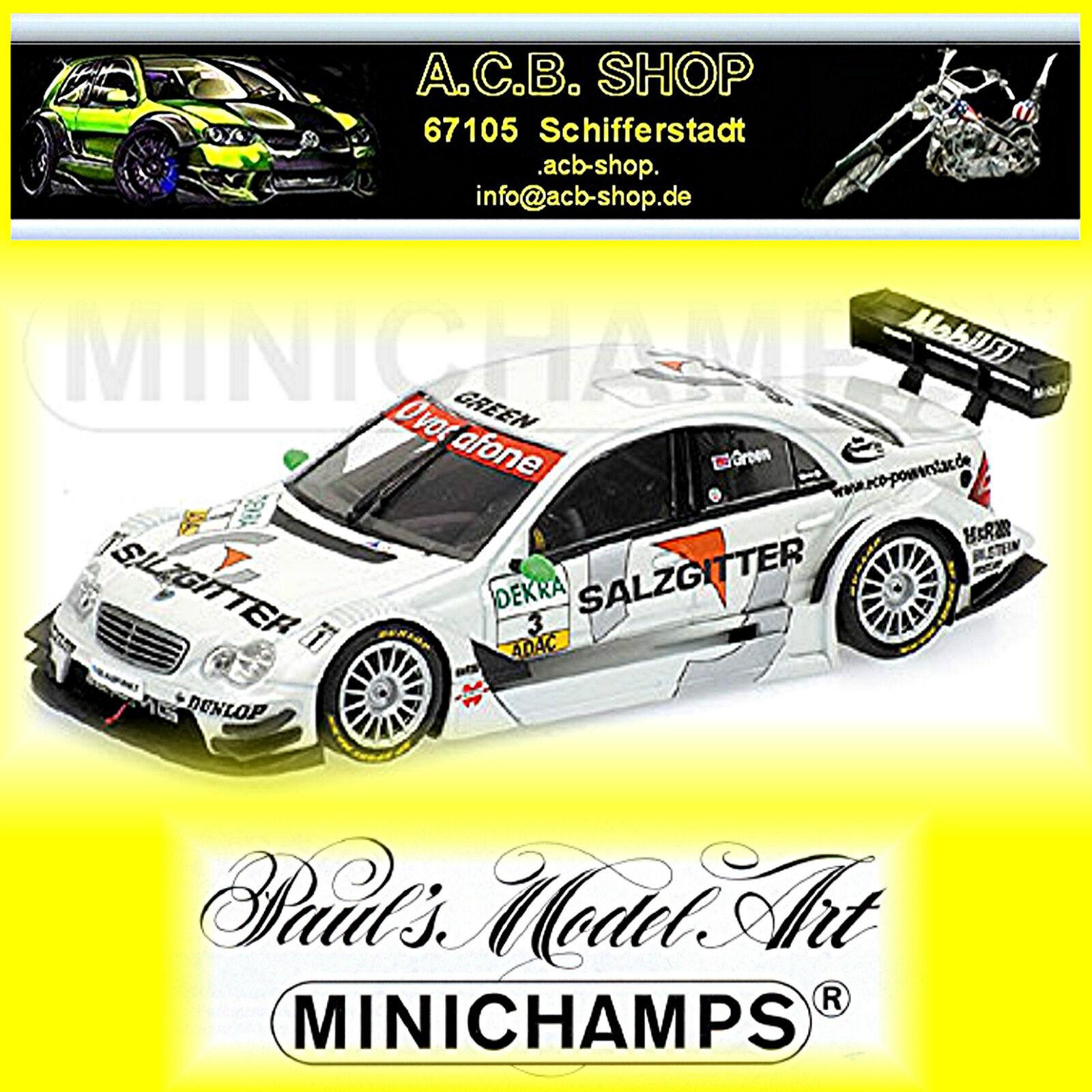 Mercedes C Class DTM 2006 2006 2006 J. vert  3 TEAM AMG Salzgitter 1 43 Minichamps a68abe