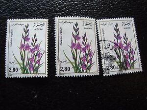 Argelia-Sello-Yvert-Y-Tellier-N-885-x3-Matasellados-A30-Stamp-Algeria
