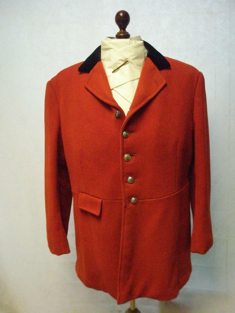Gents 46  Red Hunt Coat  Made By Bernard Weatherall - 'North East Chesire Hunt'  cheap and fashion