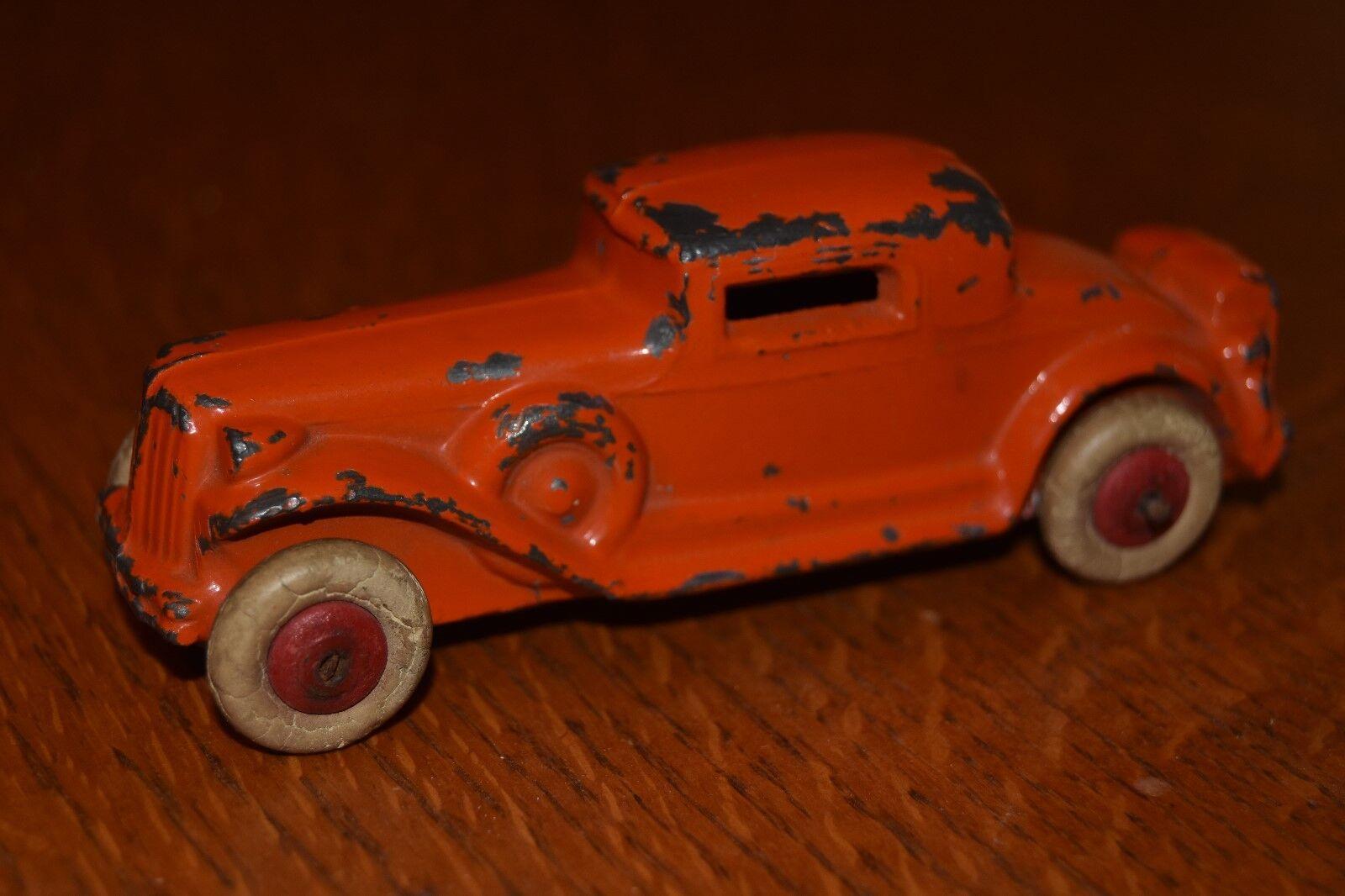 sport dello shopping online RARE vintage OLD arancia cast iron 4 1 4 4 4  lungo giocattolo auto sedan  100% nuovo di zecca con qualità originale
