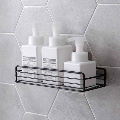 Wall Mounted Kitchen Bathroom Iron Shelf Caddies Storage Rack Organizer Adhesive