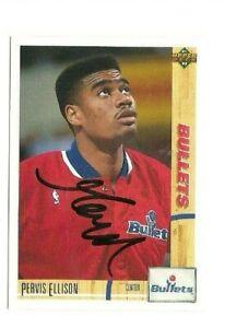 Pervis Ellison 1991-92 Upper Deck autographed auto signed card Bullets
