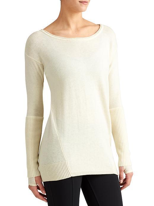 NWT Athleta Merino Nopa Sweater, Dove SIZE M v1119 2