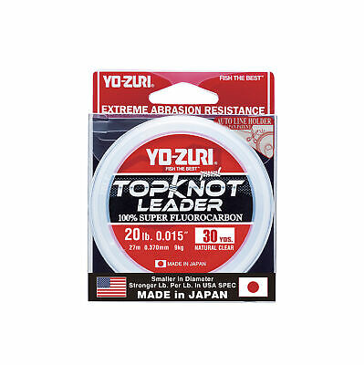Yo-Zuri TopKnot Leader Fluorocarbon Natural Clear 30 Yards Fishing Leader Fluoro