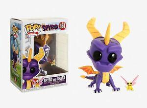 Funko-Pop-Games-Spyro-Spyro-and-Sparx-Vinyl-Figure-Item-32763