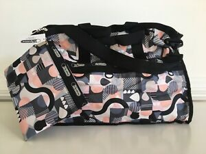 Details About Nwt Lesportsac Large Weekender Bag Tote Cubist Duffle