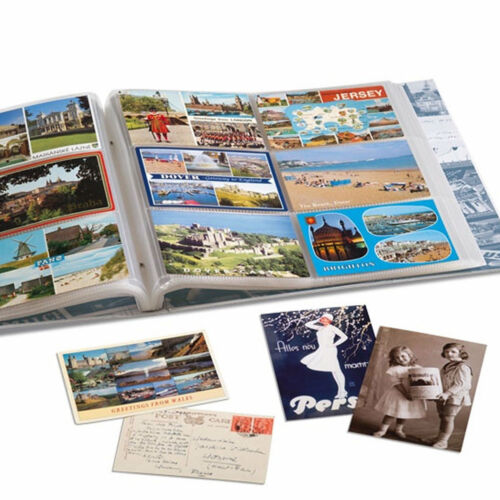 Lighthouse Postcard Album for 600 Postcards with 50 Bound Sheets