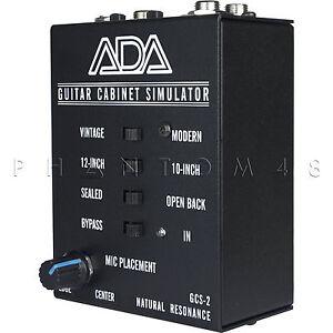ada amplification gcs 2 guitar cabinet speaker simulator di direct box gcs2 new ebay. Black Bedroom Furniture Sets. Home Design Ideas