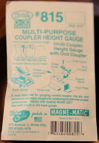 Multi-Purpose Coupler Height Gauge On30 Scale Kadee #815