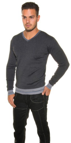 Uomo finemente Lavorazione a Maglia Pullover Maglione Sweater V-Cut L XL 5 colori uomini Moda Elegante