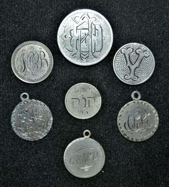 Lot of 7 Canada Love Token's, Victorian and Edwardian