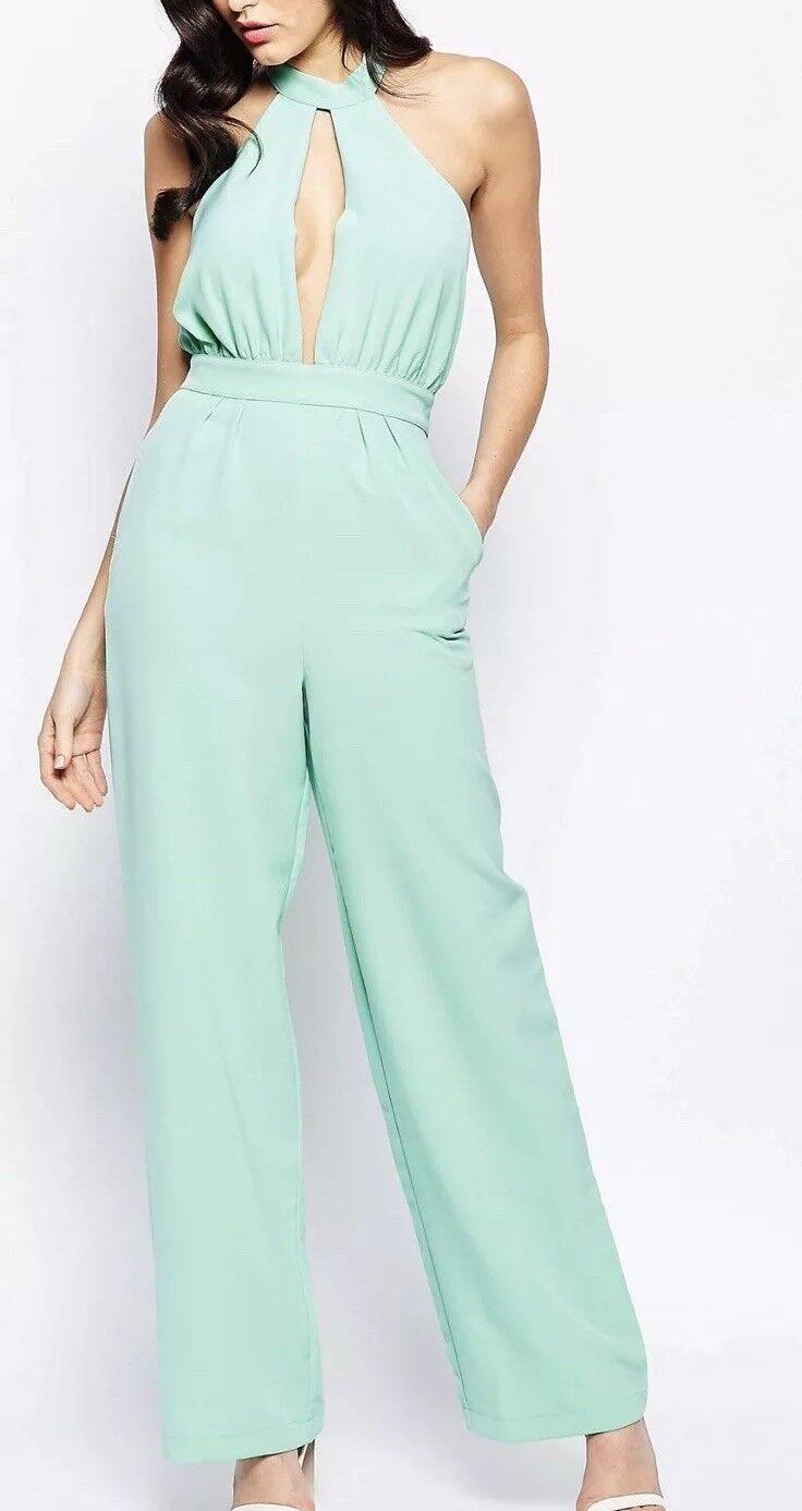Forever Unique JoJo Mint Green Jumpsuit - BNWT  - Size 8
