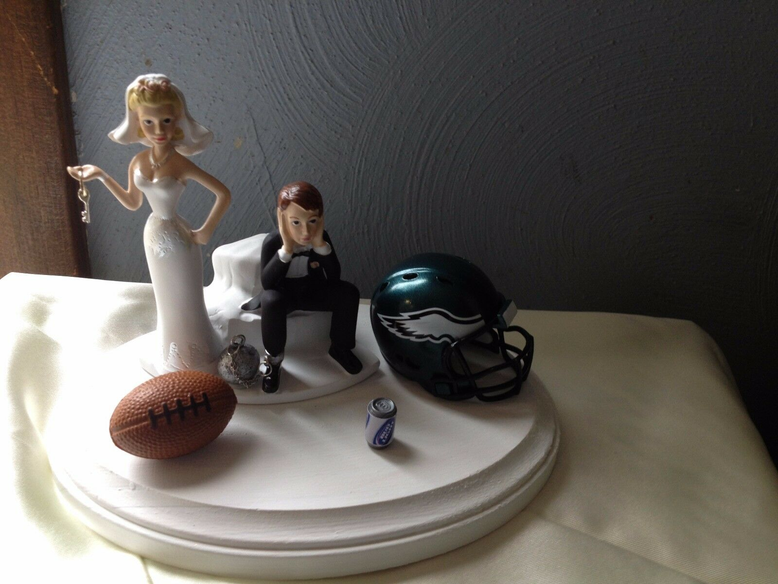 Philadelphia Eagles Cake Topper Bride Groom Wedding Day Funny Football Theme