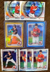 2020 Bowman Corbin Carroll Lot (8) - Gold Refractor #/50, Blue Refractor #/150