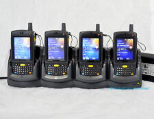 LOT OF 4x Motorola MC75A0-PY0SWQQA9WR 1D Barcode Scanner PDA WM6.5 WiFi +CRADLE!