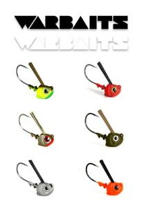 WARBAITS-WEEDLESS-SWIMBAIT-JIG-HEAD-SALTWATER-CALICO-BASS-SELECT-SIZE-COLOR