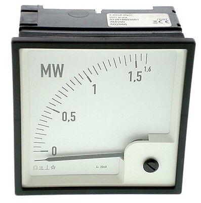 • PÖTTER Drehspulinstrument PQ96 4-20mA Mech. , Anzeige 0-1,6 MW  #GO