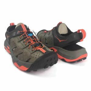 HOKA-ONE-ONE-TOR-TRAFA-Men-Sandal-Running-Hiking-Trail-Orange-Blue-Water-Shoe
