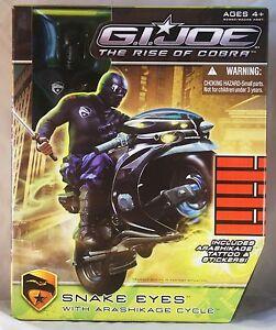 G.I.Joe Snake Eyes with Arashikage Cycle ages 4+ Toy