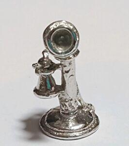 VTG 925 Sterling Silver Retro Dial Telephone Design Charm Pendant from D/&J