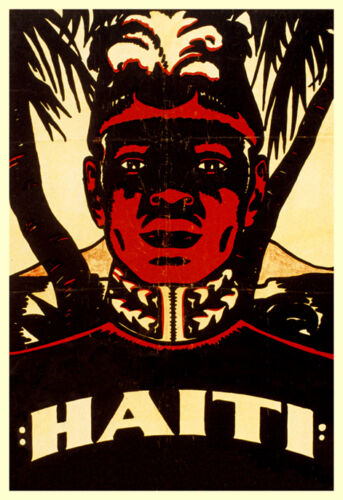 Vintage Haiti Travel Poster The Pearl of the Caribbean