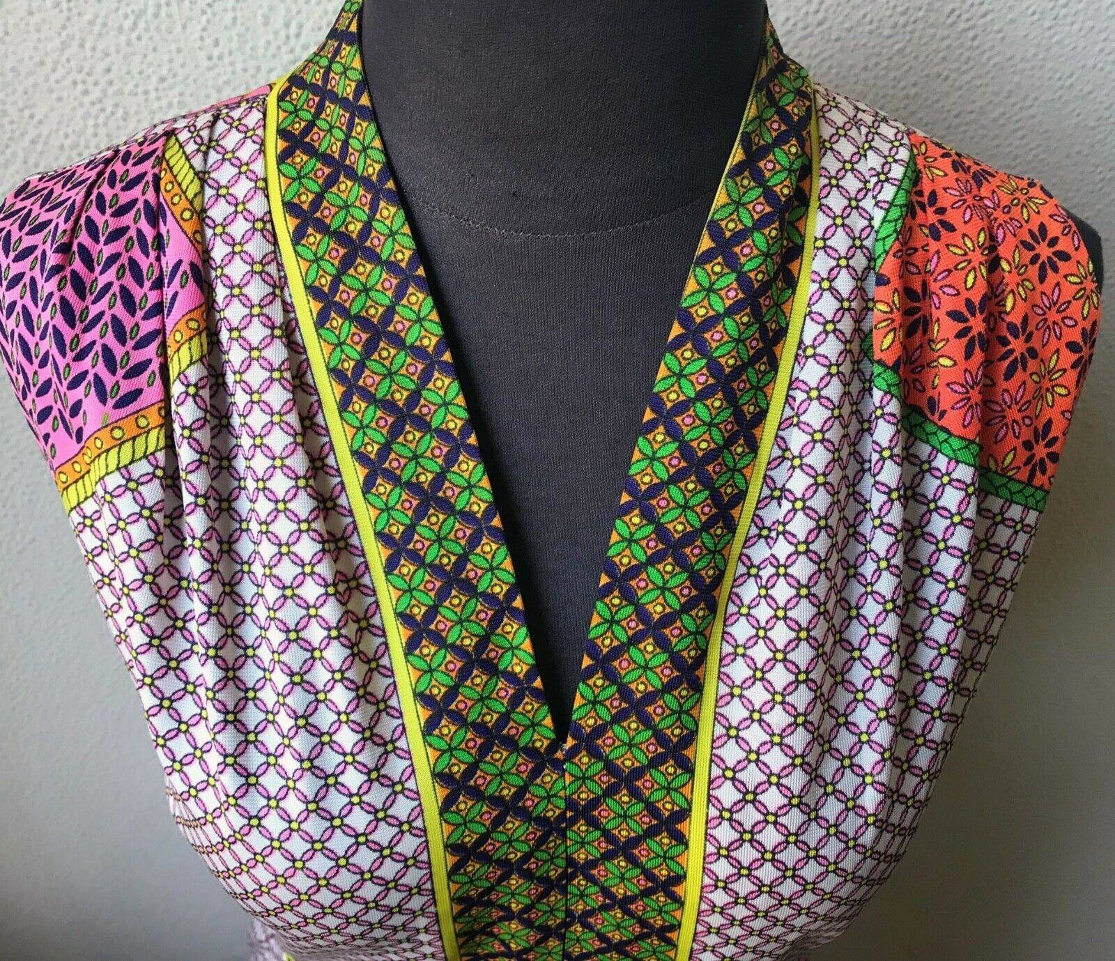 60's Really Cute Patchwork Mod Look Summer Maxi D… - image 4